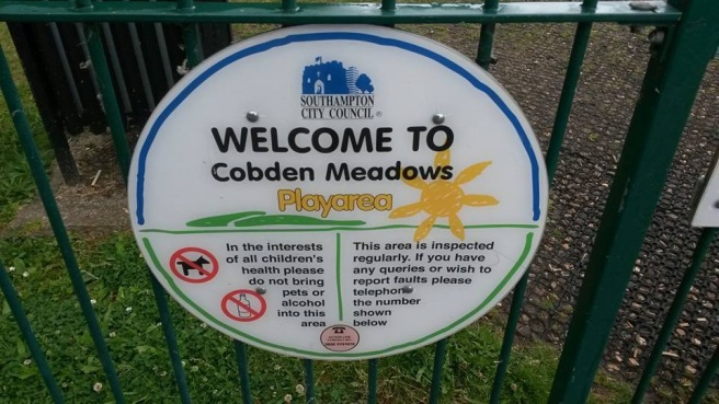 Sign saying Cobden meadows playground