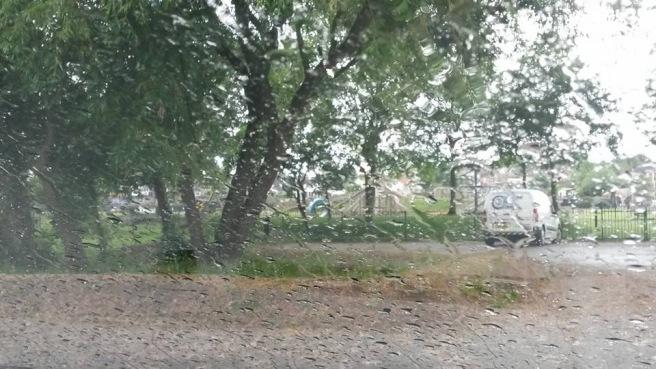 Rainy windscreen