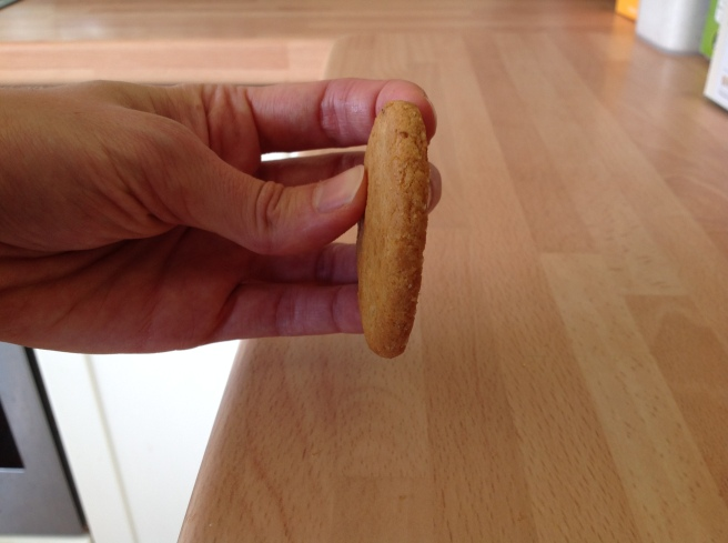 biscuit held on side like a wheel