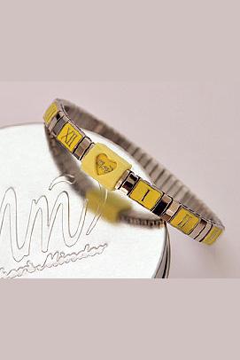 Yellow and silver breastfeeding bracelet
