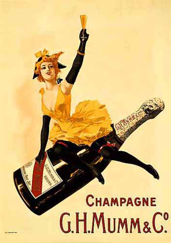 Old advert for mumm champagne
