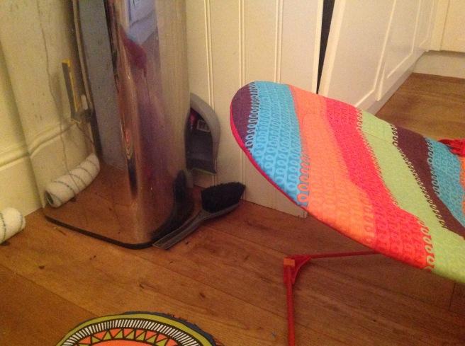 Bouncy chair next to bin