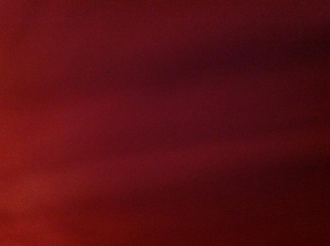 A blurry dark bit of red